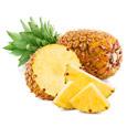 Due ananas marroni. Tagliamo a metà in modo da poter vedere il frutto giallo