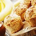 Chia, lijnzaad en bananenhaver muffins