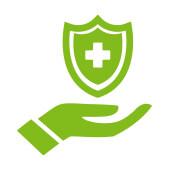 cartone animato in possesso di uno scudo per rappresentare la protezione