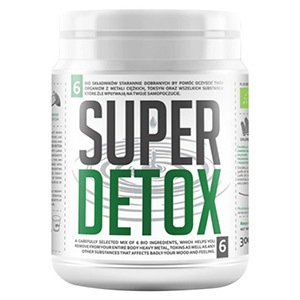 Bio Super Detox Mix integratore in Polvere per detox e disintossicazione Su Uno Sfondo Bianco