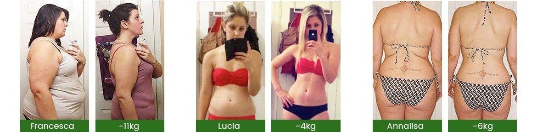 foto di clienti prima e dopo trammento dimagrante weightworld green coffee e garcinia cambogia
