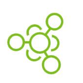 Assorbendo verde delle molecole su fondo bianco che rappresenta lo zucchero.