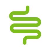 Disegno verde in un ciclo a forma di linea, rappresentato come una fibra