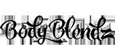 logo body blendz nero su sfondo trasparente marchio integratori