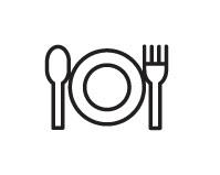 forchetta e coltello per mostrare una dieta equilibrata durante