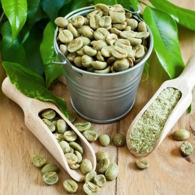 chicchi e polvere di caffè verde dimagrante