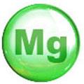 Cerchio verde con lettere Mg nel mezzo. Lo sfondo è bianco