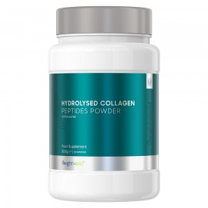 confezione di Peptidi di Collagene Bovino Idrolizzato in Polvere da 200g di WeightWorld. Polvere proteica. Peptidi di collagene.