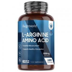 L-Arginina - Integratore Muscolare Per Dimensioni e Prestazioni - 180 Capsule