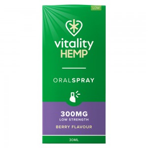 Hemp Spray Orale - Aroma Frutti di Bosco - 30ml Olio di Canapa in Concentrazione 300mg