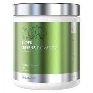 Super Greens Polvere Integratore di Frutta e Verdura in Polvere confezione 240grammi mix concentrato di vitamine e minerali
