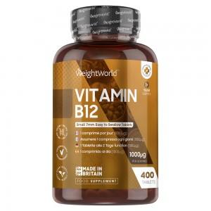 Vitamina B12 WeightWorld 400 Compresse per energia e benessere