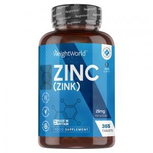 Integratore di Zinco in compresse WeightWorld 365 compresse per un anno