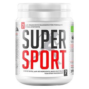 confezione di super sport polvere su sfondo bianco
