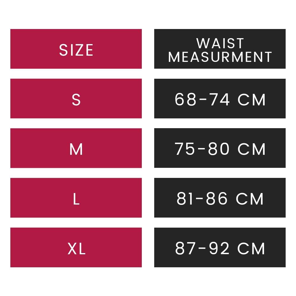 taglie waist trainer fascia dimagrante weightworld per girovita s m l xl e misure circonferenza